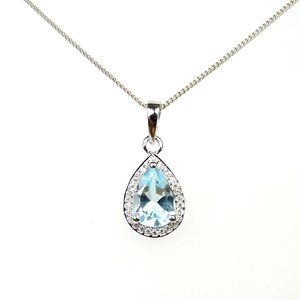 New - The Truly Amazing Blue Topaz Teardrop Pendant