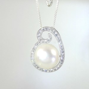 New!  The Pearl Swirl Pendant