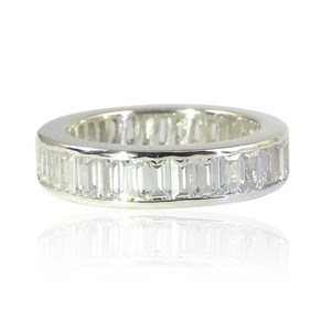 The Channel Set Baguette Eternity Ring