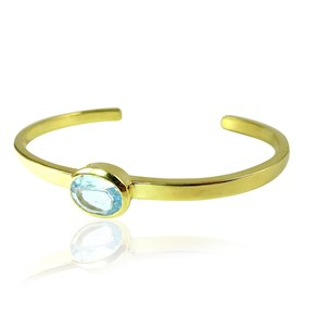 The Oval Gemstone Bangle