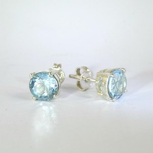 New!  Blue Topaz stud earrings