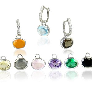 The Amazing Silver Hoops and Gemstone Ovals