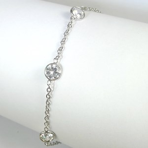Silver Diamond CZs By The Metre Bracelet