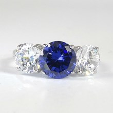 Classic Sapphire Victorian Engagement Ring