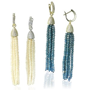 The Crystal Tassel Earrings