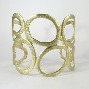 New! Holy-Holey Brushed Gold Arm Cuff