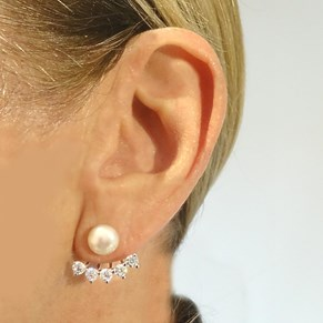 Shimmering Back-to-front Pearl Earrings