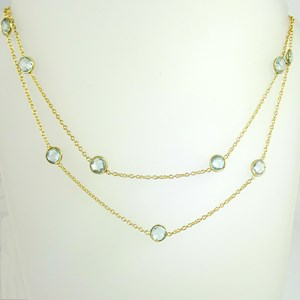NEW! Blue Topaz by the Metre necklace