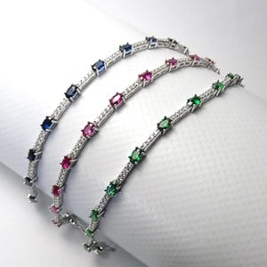 NEW - The Oval Stone Tennis Bracelet