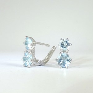 NEW - The Double Blue Topaz Leverback Earring