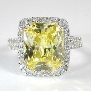 The Yellow Diamond CZ Ring