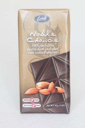Noble Choice Dark Choc with Roasted Almonds - 85g
