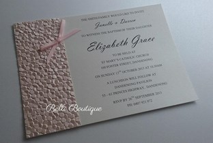 """Elizabeth"" Baptism/Christening Invitation"