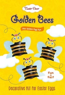 Golden Bees, Decorative Kit for Easter Eggs