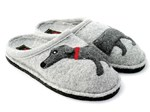 Haflinger Dachs Dog Slippers grey