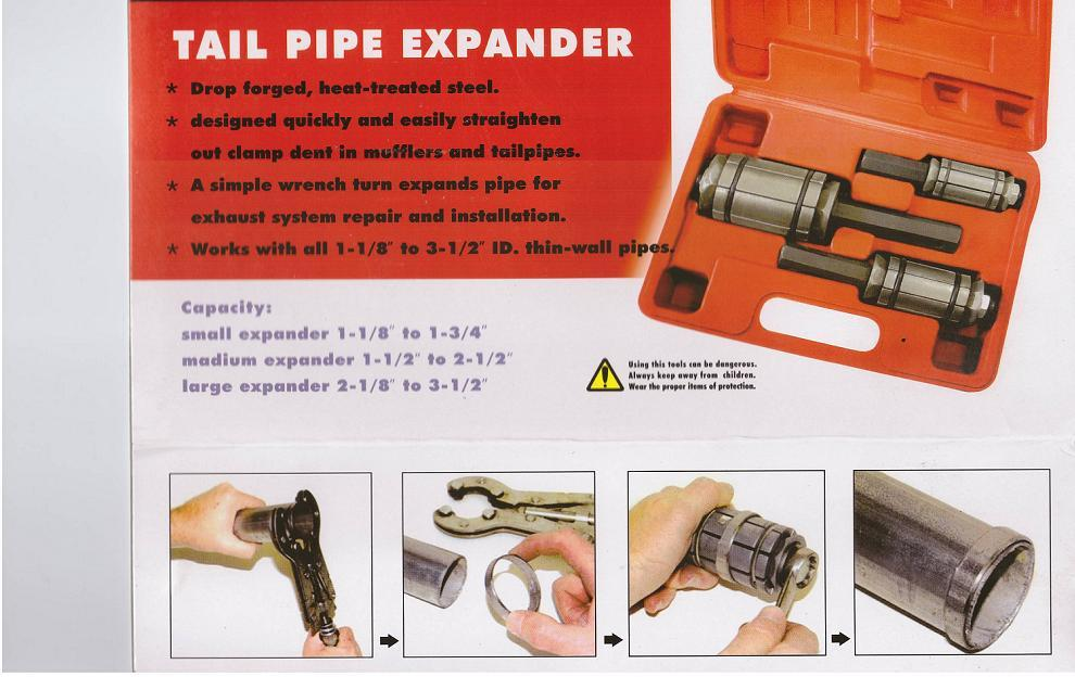 tail pipe expander how to use