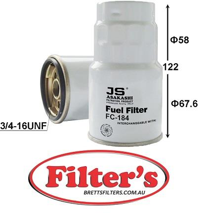 fc184j fuel filter diesel fc-184 for toyota granvia fuel supply sys aug  99~may