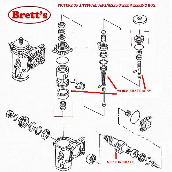 ZZZ ME720217 WORM SHAFT POWER STEER BOX FH100 1990-10/1991 SUITS MC826447  STEERING BOX MITSUBISHI FUSO TRUCK PARTS