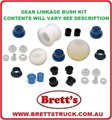 12232.391 GEAR LINKAGE KIT BUSH SET OVERHAUL YOUR SLOPPY GEARSHIFT  MITSUBIHI CANTER 1986-10/1990 FE434 FE444 FE444 FG434 FG439 TURBO  GEAR CHANGE SELECTOR WORN WEAR BUSHS BUSH KIT BUSHES