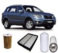 KIT5011 FILTER KIT HYUNDAI SANTA FE R SERIES 2.2R  2.2L CRDI TURBO DIESEL 2010-12   OIL FUEL AIR SERVICE KIT LUBE SET