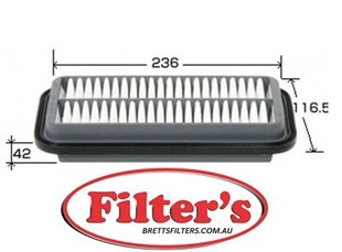 A3024 AIR FILTER  MITSUBISHI i  Air Supply Sys Jan 06~Sep 13 0.66 L HA1W 3B20 Air Supply Sys Oct 06~Sep 13 0.66 L HA1W 3B20-T
