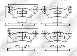 DB0278PM FRONT DISC PAD SET MAZDA Cosmo HB 8/81-5/90 Luce HB 10/81-9/86 929 HB SERIES SEDAN COUPE 82-87 DB0278 DB278 ADB278