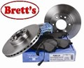 VOL110  FRONT REAR DISC ROTOR WDR723 CDR1064 85103803 VOLVO SPLINE 434MM VENTED ROTORS JURATEK