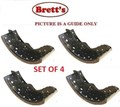 11525.109 FRONT NEW BRAKE SHOE  SET OF 4 LINED SUIT HINO    FD1J 2003-    RANGER PRO    J08C-UJ    8.0L    2003- FD7J 2011-        J07E-TP    6.4L    2011- FD8J 2008-    RANGER 500 SERIES     J08ETE    7.7L    2008-