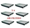 FA1198X6 6 PAK PACK AIR FILTERS BUY AND SAVE % 6PAK AIR FILTER PRADO 3L TURBO & 4L 2002-  PANEL TYPE FA-1198 A-1198 P505979