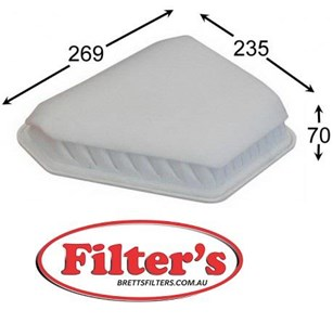 ZZZ A1517 AIR FILTER FOR AZUMI A21517 JS A1517 HENGST FILTER E897L JAPANPARTS FA-262S FA262S NIPPARTS N1322109 SAKURA A-3314 FA3314 FA-3314 A3314 TOYOTA 17801-0R030 178010R00 TOYOTA 17801-26020 1780126020