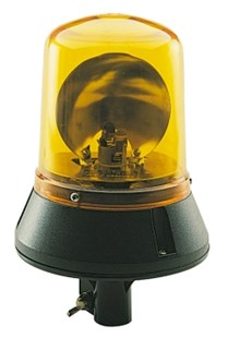 85654C REVOLVING BEACON AMBER POLE MOUNT 12V 24V FLASH FLASHING ROTATING BEACON 85654A 12V OR 24V (DOES NOT COME WITH BEACON)  ELECTRONICALLY SENSES 12V OR 24V , NO BELT CHANGES  POLYCARBONTA LENS