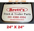 MUD0005  *BUY 1 & GET 1 FREE* GENUINE BRETTS TRUCK PARTS MUDFLAPS 24