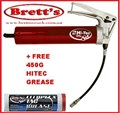 DKCG-481N HI-TEC HITECH 450G GREASE TUBE + 450G Pistol Grip Grease  Gun •  TRADE QUALTIY  pistol grip grease gun • Solid construction • 450 gram cartridge and bulk fill • Working pressure 8000psi  sim to Kincrome   DKCG481 DKCG481N WORKSHOP  QUALITY