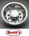 ISRT225RWN 22.5'' REAR STAINLESS STEEL WHEEL COVER & LOCK BAND  SIMULATOR HINO MITSUBISHI FUSO ISUZU SUITS 22.5