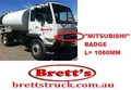 20000.303 FRONT BADGE MITSU FUSO MITSUBISHI TRUCK  BADGE EMBLEM DECAL STICKER GRILLE BADGE MITSUBISHI L=1060MM 1060MM LONG CLIPS ON MC912867