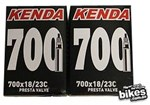 KENDA 700x18/23C Presta Valve Bike Tube 80mm Threadless