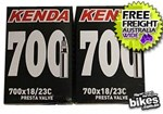 10 PACK! KENDA 700x18/23C Presta Valve Bike Tube 80mm Threadless