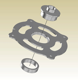 Clean Sweep Magnalock Ring To suit PC Style Template Bushing - Incra