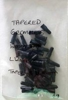 Tapered Grommets 12mm x 3-5mm Black