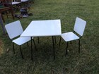 Cute Vintage Australian c1950's Child's Dining Table & Chairs Setting