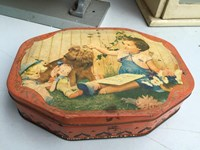 Vintage Australian 1940's A.W Allen Melbourne Biscuit Tin Kitchen Display