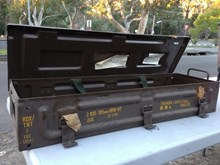 Old Australian Army Metal Ammo (Empty) Tool Storage Boxes Good Condition