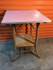 Vintage Cane & Seagrass Conservatory Table with Laminex Top Lovely Condition