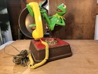 Original Henson Kermit The Frog Rotary Dial Telephone Made in USA 1983 Copyright
