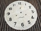 Antique Vintage Australian AWA Metal Clock Face 30cm Man Cave Display