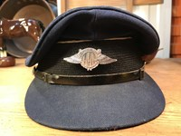 Vintage Australian Air League Pilots Peak Cap Aviation Collector Display
