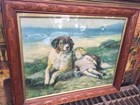 Antique Art Nouveau Framed N.B Roney Print