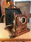 Rare Antique English Timber & Brass Triple Thornton Pickard Plate Camera