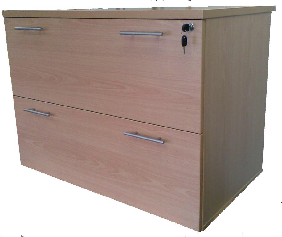 Stella Office Furniture 2 Drawer Lateral Filing Cabinet S53