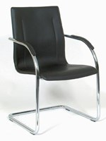 Kellys Leather Chrome  Leo Gammer Client Chair